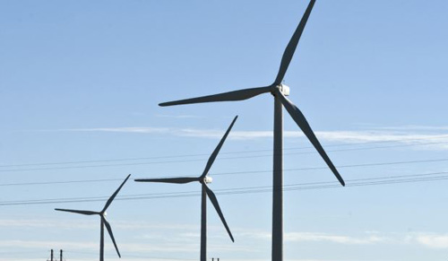 A wind farm in Shangyi, Hebei, China (2009 file photo) /AP