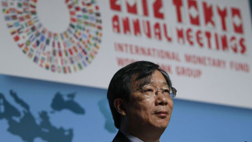 Peoples Bank of China Deputy Governor Yi Gang is seen at the IMF-World Bank Group meeting in Tokyo on Oct. 14, 2012. /Reuters