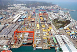 Hyundai Heavy Industries shipyard in Ulsan /Courtesy of Hyundai Heavy Industries