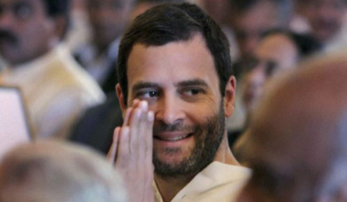 Congress Party leader Rahul Gandhi attends the swearing-in ceremony for the new ministers in New Delhi, India, on Oct. 28, 2012. /AP