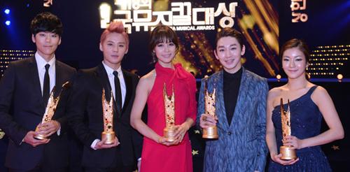 From left, Kai, Kim Jun-su, Ock Joo-hyun, Kim Ho-young and Oh So-yeon