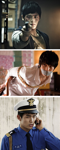 From top, Kim Dong-jun, Kim Jae-joong and Im Seul-ong 