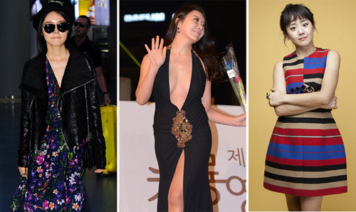 From left, Han Ga-in, Ha Na-kyung and Moon Geun-young