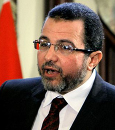 Egyptian Prime Minister Hesham Kandil talks during a press conference at his office in Cairo, Egypt on Dec. 30, 2012. /AP