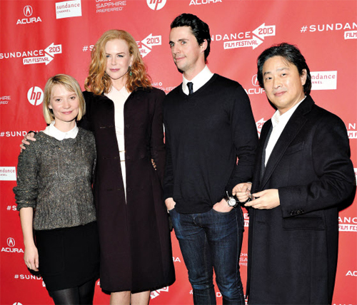 Mia Wasikowska, Nicole Kidman, Matthew Goode and Park Chan-wook attend the premiere of