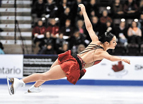 Kaetlyn Osmond of Canada competes in the ladies free program during the Skate Canada International figure skating competition in Windsor on Oct. 27, 2012. /Reuters