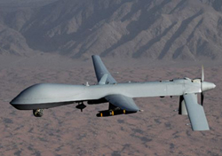 Undated handout image courtesy of the U.S. Air Force shows a MQ-1 Predator unmanned aircraft. /AP