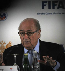 FIFA President Sepp Blatter speaks during a news conference in St. Petersburg, Russia on Jan. 20, 2013. /Reuters