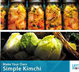 The photo of kimchi U.S. first lady Michelle Obama posted on Twitter