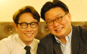 Yoon Jong-shin (left) and Seo Kyong-deok