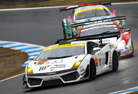 A Super GT race is held in Motegi, Japan, last August. /Courtesy of the organizing committee of Super GT Korea
