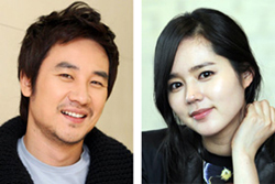 Uhm Tae-woong (left) and Han Ga-in