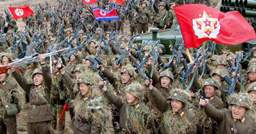 North Korean soldiers attend military training at an undisclosed location in this picture released by the Norths official KCNA news agency in Pyongyang on Monday.