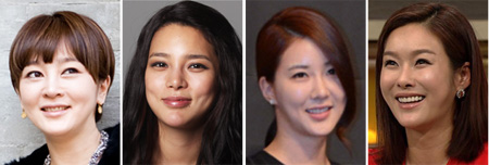 From left, Lee Seung-yeon, Park Si-yeon, Jang Mi-inae and Hyun Young
