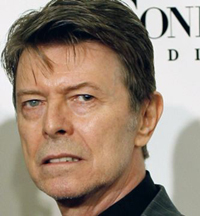 David Bowie arrives at the Fourth Annual Black Ball Concert for
