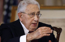 Former Secretary of State Henry Kissinger, pictured here in 2011, is not optimistic about the Arab Spring uprisings or chances of Israeli-Palestinian peace talks. /AP