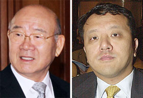Chun Doo-hwan (left) and Jae-kook