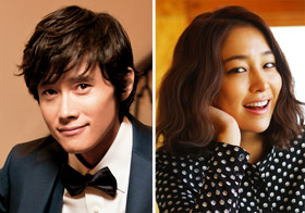 Lee Byung-hun (left) and Lee Min-jung