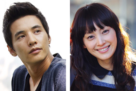 Won Bin (left) and Lee Na-young