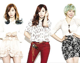 From left, Tae-yeon, Tiffany and Sunny
