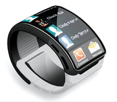 An image circulating online purports to show Samsungs Galaxy Gear smartwatch.