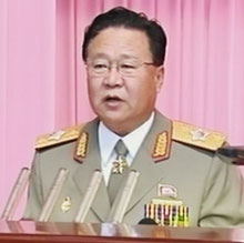 North Korean Politburo chief Choe Ryong-hae gives a speech in Pyongyang to mark the 53rd anniversary of military-first doctrine on Saturday. /North Korean Central News Agency
