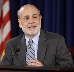 Federal Reserve Chairman Ben Bernanke speaks during a news conference at the Federal Reserve in Washington on Sept. 18, 2013. /AP