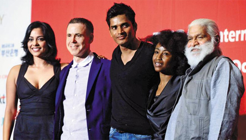 The cast and crew of the film