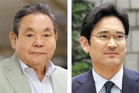 Samsung Group chairman Lee Kun-hee and his son Jae-yong