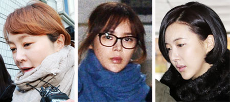 From left, Lee Seung-yeon, Park Si-yeon and Jang Mi-inae