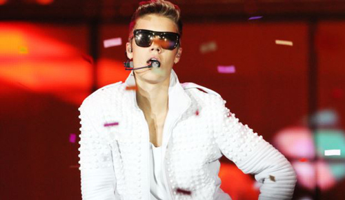 Justin Bieber performing as part of The Believe Tourat Philips Arena on Aug. 10, 2013 in Atlanta. /AP