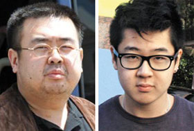 Kim Jong-nam and his son Han-sol