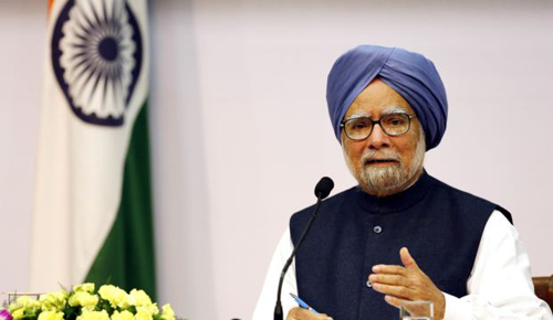 Indian Prime Minster Manmohan Singh addresses a press conference in New Delhi, India on Jan. 3, 2014. /AP