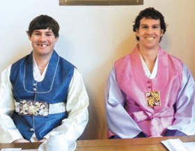 Michael Swift (left) and Brian Young /Courtesy of the Korea Ice Hockey Association