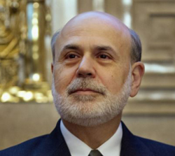 Federal Reserve Chairman Ben Bernanke at the Federal Reserve Board of Governors, Washington on Dec. 2, 2013 /AP