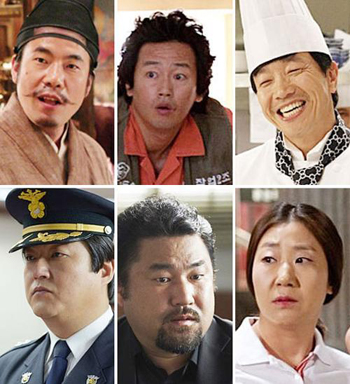 Clockwise from top left, Oh Dal-soo, Kim Jung-tae, Park Chul-min, Ra Mi-ran, Ko Chang-seok, and Kwak Do-won