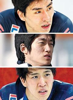 From top, Lee Seung-hoon, Joo Hyung-joon and Kim Cheol-min