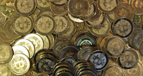 Bitcoin tokens at 35-year-old software engineer Mike Caldwells shop in Sandy, Utah on April 3, 2013. /AP