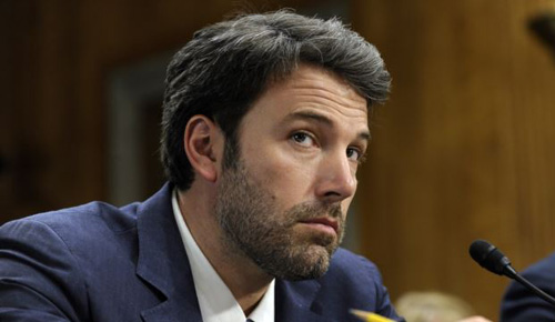 Actor and Eastern Congo Initiative Founder Ben Affleck listens to testimony on Capitol Hill in Washington on Feb. 26, 2014, during the Senate Foreign Relations Committee hearing on the Congo. /AP