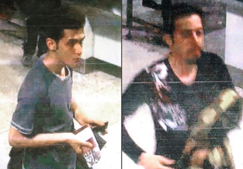 These images released by Interpol show Pouri Nourmohammadi, 19, (left) and Delavar Seyedmohammaderza, 29, who allegedly boarded the missing Malaysia Airlines jet with stolen passports. /AP