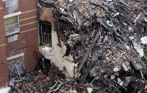 Rubble is seen on March 14, 2014, two days after a natural gas explosion leveled two apartment buildings in New York. /AP