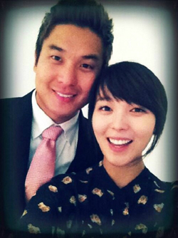Sun-ye with her husband