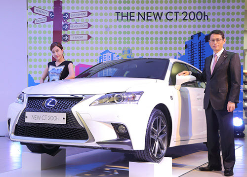 Akihisa Yoshida of Toyota Motor Korea poses at the launch of a new Lexus at COEX in Seoul on Wednesday.