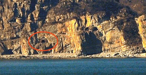 A North Korean artillery position at Jangsan Cape in South Hwanghae Province. /News 1