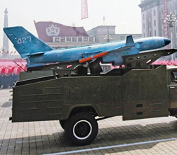 A drone unveiled on North Korean regime founder Kim Il-sungs 100th birthday in April 2012 looks similar to two drones that crashed on Baeknyeong Island and in Paju, Gyeonggi Province. /[North] Korean Central TV