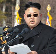 North Korean leader Kim Jong-un speaks during his visit to the Samji Monument at Mt. Baekdu on Tuesday. /Rodong Sinmun