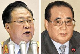 Choe Ryong-hae (left) and Ri Su-yong
