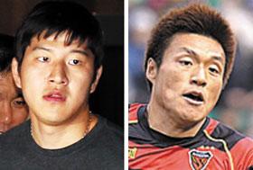Park Joo-ho (left) and Lee Myung-joo
