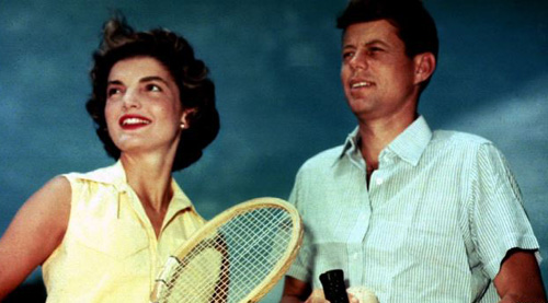 Jacqueline Bouvier shown with then-Senator John F. Kennedy in Hyannisport, Mass., on June 27, 1953. They would marry on Sept. 12, 1953 (file photo). /Reuters
