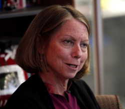 Jill Abramson speaks during an interview in New York. /Reuters